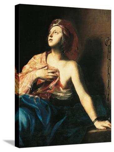 St. Agatha in Prison-Massimo Stanzione-Stretched Canvas Print