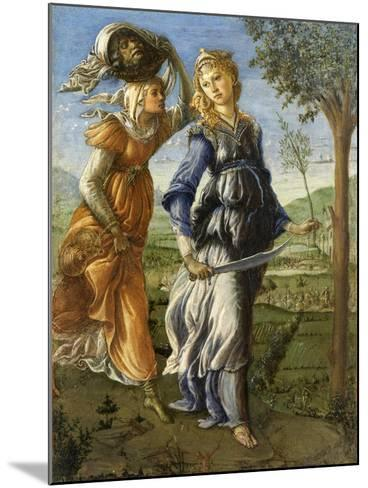 Return of Judith from the Field of Holofernes by Botticelli, c. 1472-73. Uffizi Gallery, Florence-Sandro Botticelli-Mounted Art Print