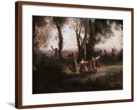 Morning. The Nymphs Dance-Jean-Baptiste-Camille Corot-Framed Art Print