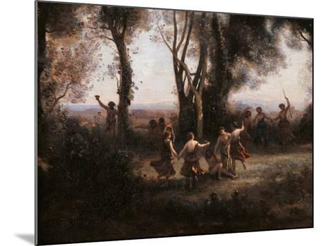 Morning. The Nymphs Dance-Jean-Baptiste-Camille Corot-Mounted Art Print