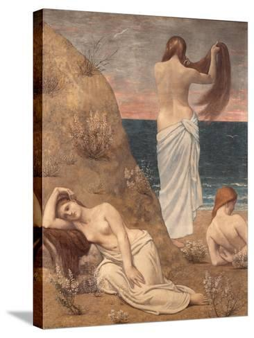 Young Girls at the Seaside-Pierre Puvis de Chavannes-Stretched Canvas Print