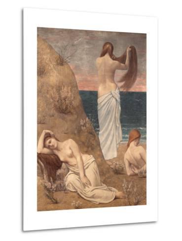 Young Girls at the Seaside-Pierre Puvis de Chavannes-Metal Print
