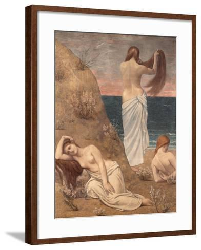 Young Girls at the Seaside-Pierre Puvis de Chavannes-Framed Art Print