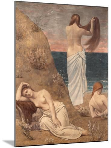 Young Girls at the Seaside-Pierre Puvis de Chavannes-Mounted Art Print