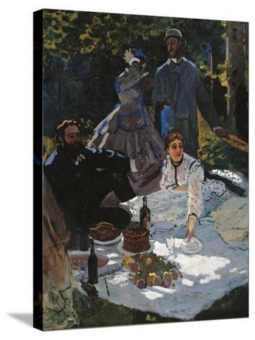 Breakfast in the Greenery-Claude Monet-Stretched Canvas Print