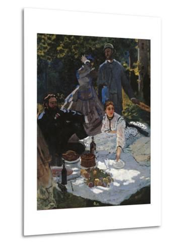 Breakfast in the Greenery-Claude Monet-Metal Print