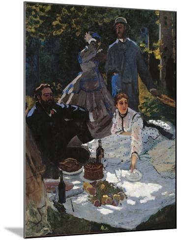 Breakfast in the Greenery-Claude Monet-Mounted Art Print