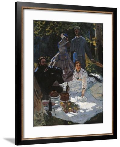 Breakfast in the Greenery-Claude Monet-Framed Art Print