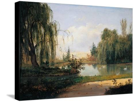 Ducal Park of Colorno with a View of the Pond-Giuseppe Drugman-Stretched Canvas Print
