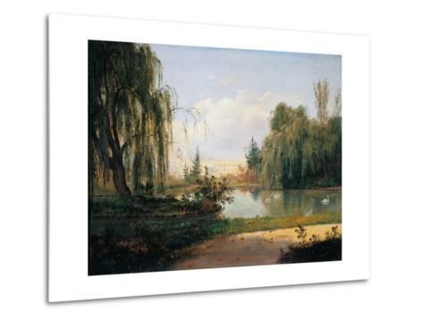 Ducal Park of Colorno with a View of the Pond-Giuseppe Drugman-Metal Print