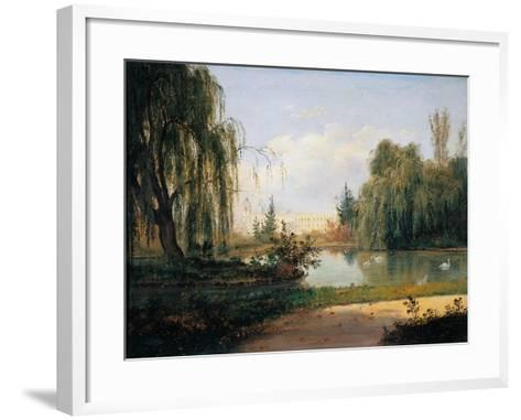 Ducal Park of Colorno with a View of the Pond-Giuseppe Drugman-Framed Art Print