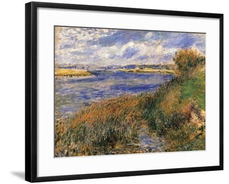Seine at Champrosay-Pierre-Auguste Renoir-Framed Art Print