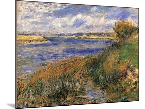 Seine at Champrosay-Pierre-Auguste Renoir-Mounted Art Print