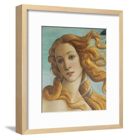 Birth of Venus, Head of Venus-Sandro Botticelli-Framed Art Print