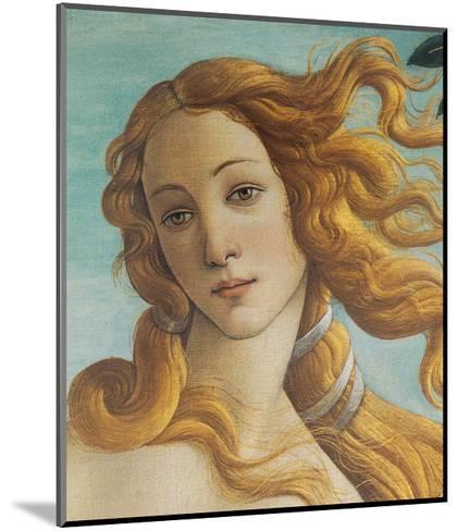 Birth of Venus, Head of Venus-Sandro Botticelli-Mounted Art Print