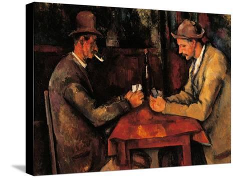 Card Players-Paul C?zanne-Stretched Canvas Print