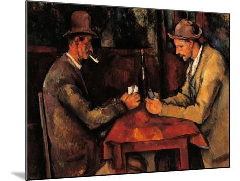 Card Players-Paul C?zanne-Mounted Art Print