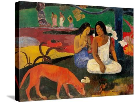 Arara (Jokes)-Paul Gauguin-Stretched Canvas Print
