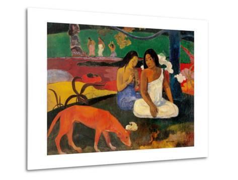 Arara (Jokes)-Paul Gauguin-Metal Print