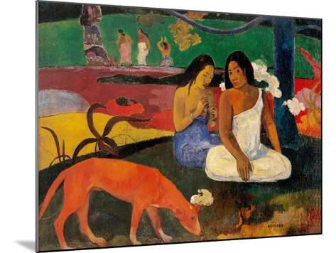 Arara (Jokes)-Paul Gauguin-Mounted Art Print