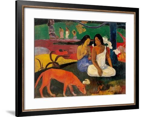 Arara (Jokes)-Paul Gauguin-Framed Art Print