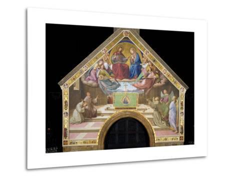 Vision of St. Francis (Miracle of the Roses)-Friedrich Overbeck-Metal Print