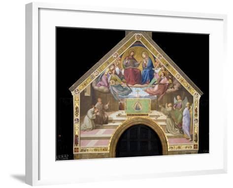 Vision of St. Francis (Miracle of the Roses)-Friedrich Overbeck-Framed Art Print
