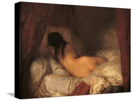 Reclining Female Nude-Jean-Fran?ois Millet-Stretched Canvas Print
