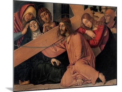 Christ Fell under the Cross-Francesco Bonsignori-Mounted Art Print