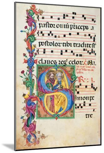 Choral response for religious services, illuminated manuscript, 14th c. Osservanza Basilica, Siena--Mounted Art Print