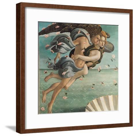 Birth of Venus, Zephyrus and Aura-Sandro Botticelli-Framed Art Print