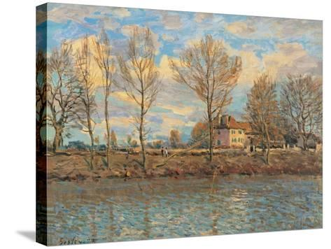 Island of La Grande Jatte, Neuilly sur Seine-Alfred Sisley-Stretched Canvas Print
