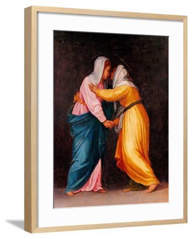 Carro della Zecca, The Visitation-Pontormo Carrucci-Framed Art Print