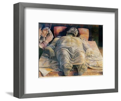 Christo in Scurto (Foreshortened Christ or the Dead Christ)-Andrea Mantegna-Framed Art Print