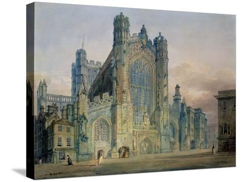 The West Front of Bath Abbey-J^ M^ W^ Turner-Stretched Canvas Print