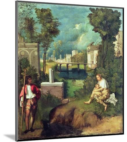 The Tempest-Giorgione-Mounted Giclee Print