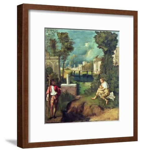 The Tempest-Giorgione-Framed Art Print