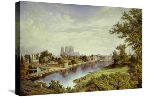 York from Scarborough Railway Bridge-John Bell-Stretched Canvas Print