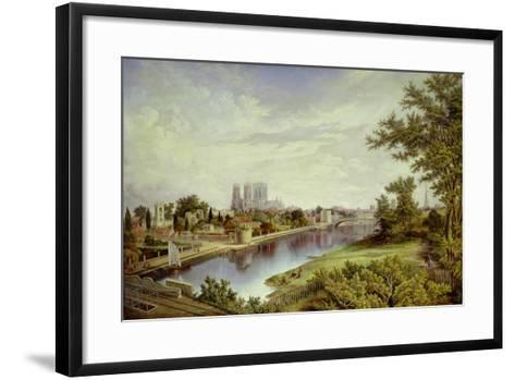 York from Scarborough Railway Bridge-John Bell-Framed Art Print