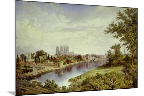 York from Scarborough Railway Bridge-John Bell-Mounted Giclee Print