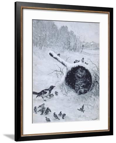 Taking Shelter-Louis Wain-Framed Art Print