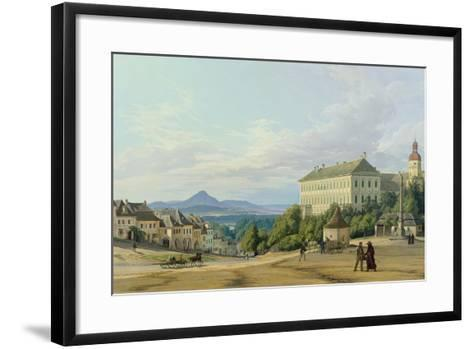 Roudnice Castle from the Town, 1840-Carl Robert Croll-Framed Art Print
