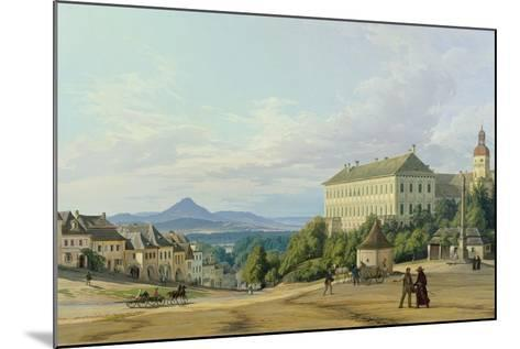 Roudnice Castle from the Town, 1840-Carl Robert Croll-Mounted Giclee Print