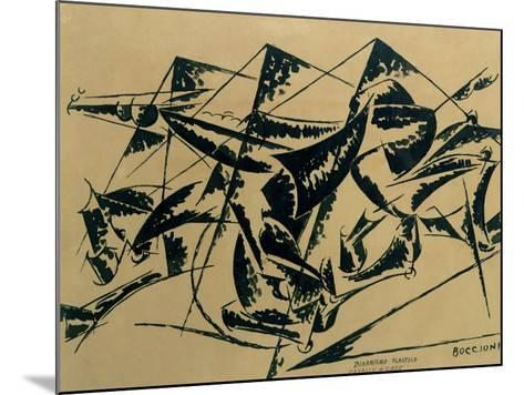 Plastic Dynamism: Horse and Houses, 1914-Umberto Boccioni-Mounted Giclee Print