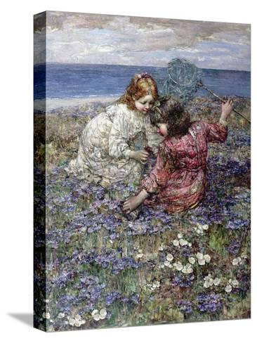 After the Butterfly Chase, 1911-Edward Atkinson Hornel-Stretched Canvas Print