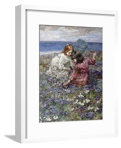 After the Butterfly Chase, 1911-Edward Atkinson Hornel-Framed Art Print