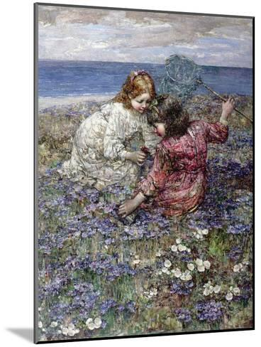 After the Butterfly Chase, 1911-Edward Atkinson Hornel-Mounted Giclee Print