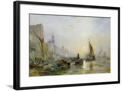 Shipping on the Thames-Samuel Bough-Framed Art Print