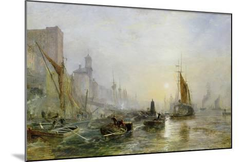 Shipping on the Thames-Samuel Bough-Mounted Giclee Print
