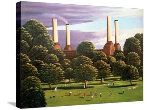 Battersea Power Station, 1982-Liz Wright-Stretched Canvas Print